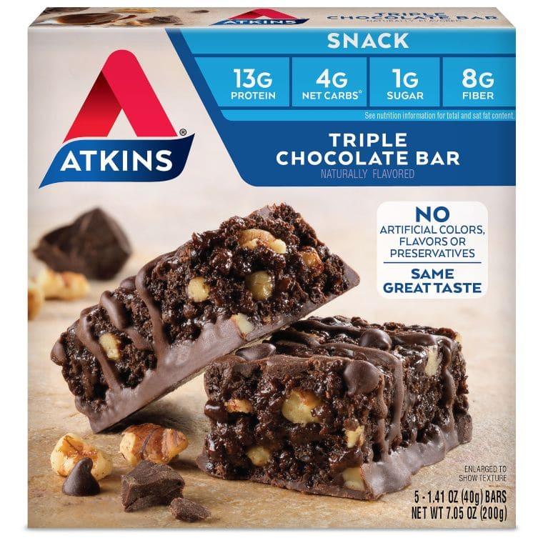 Atkins Triple Chocolate Snack Bar