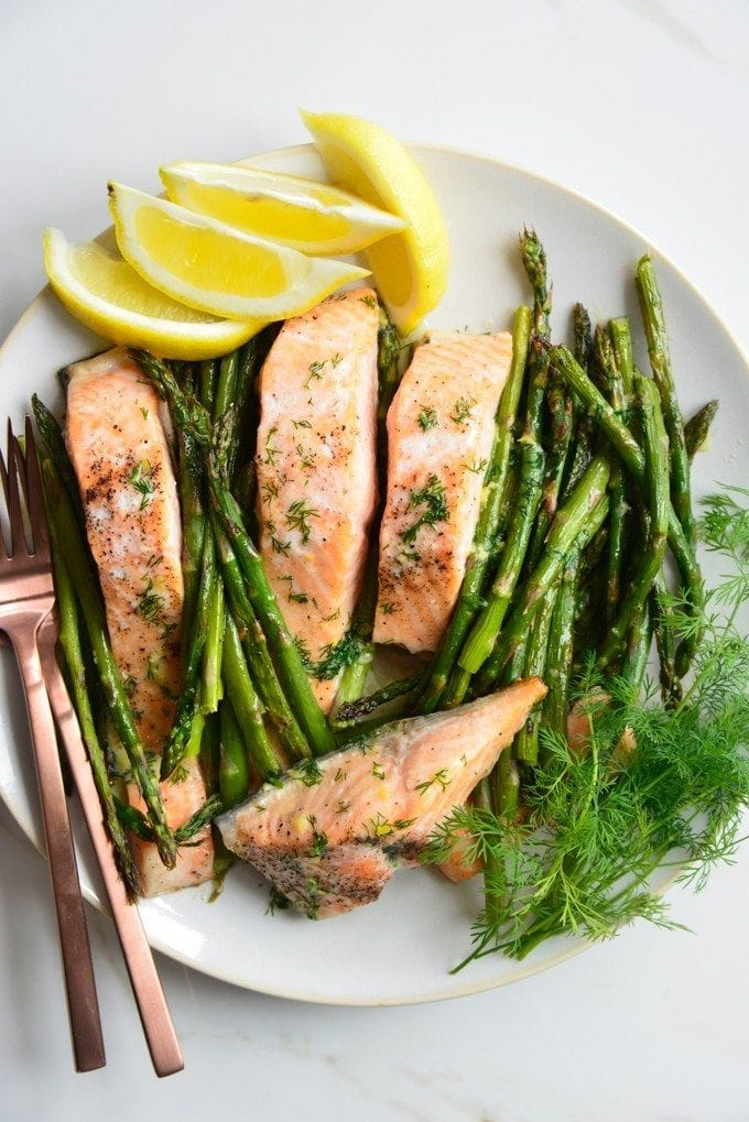 Butter Dill Baked Salmon