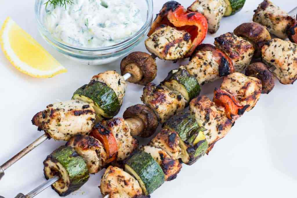 Lemon-Oregano Chicken Kabobs