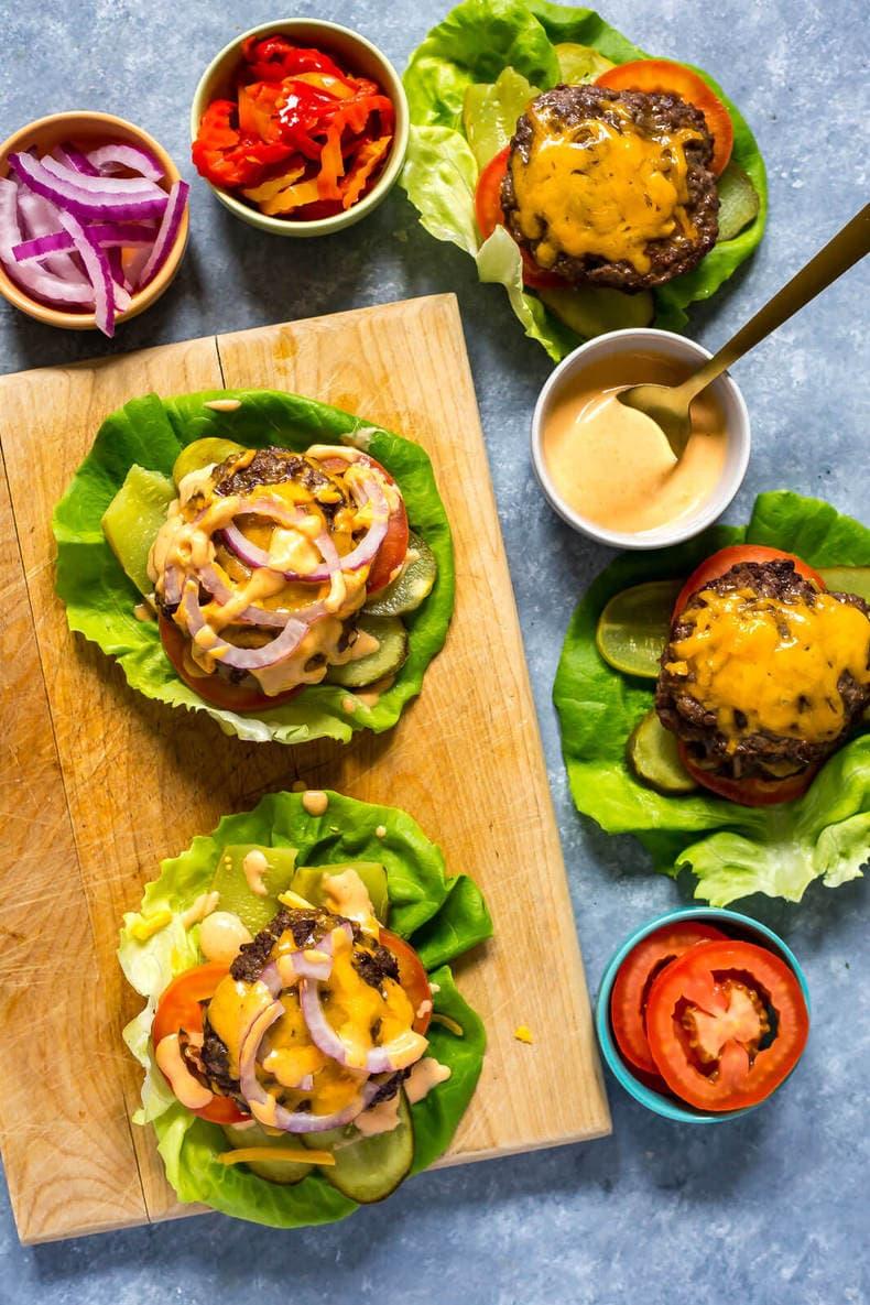 Burger Lettuce Wraps