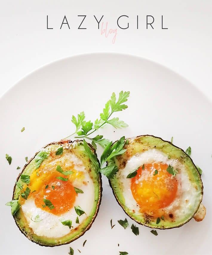 Baked Avocado Eggs Keto Recipe