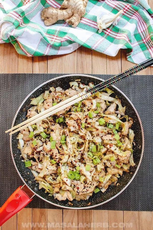 Chicken Cabbage Stir-Fry