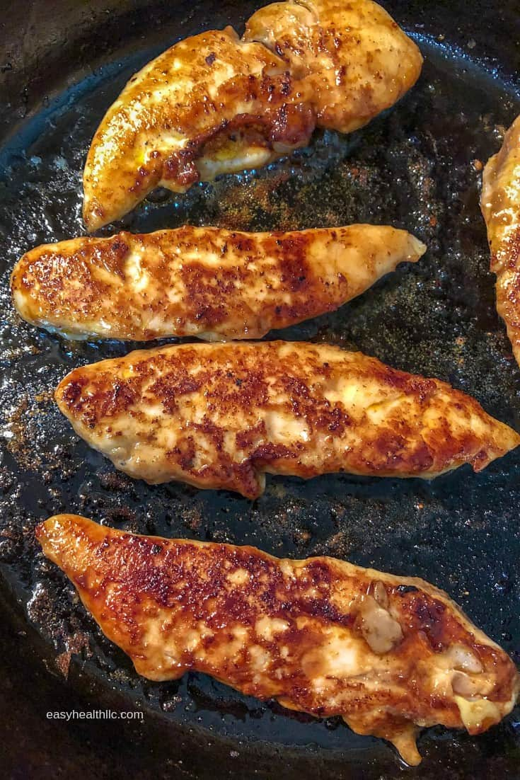 Low Carb Skillet Chicken Tenders