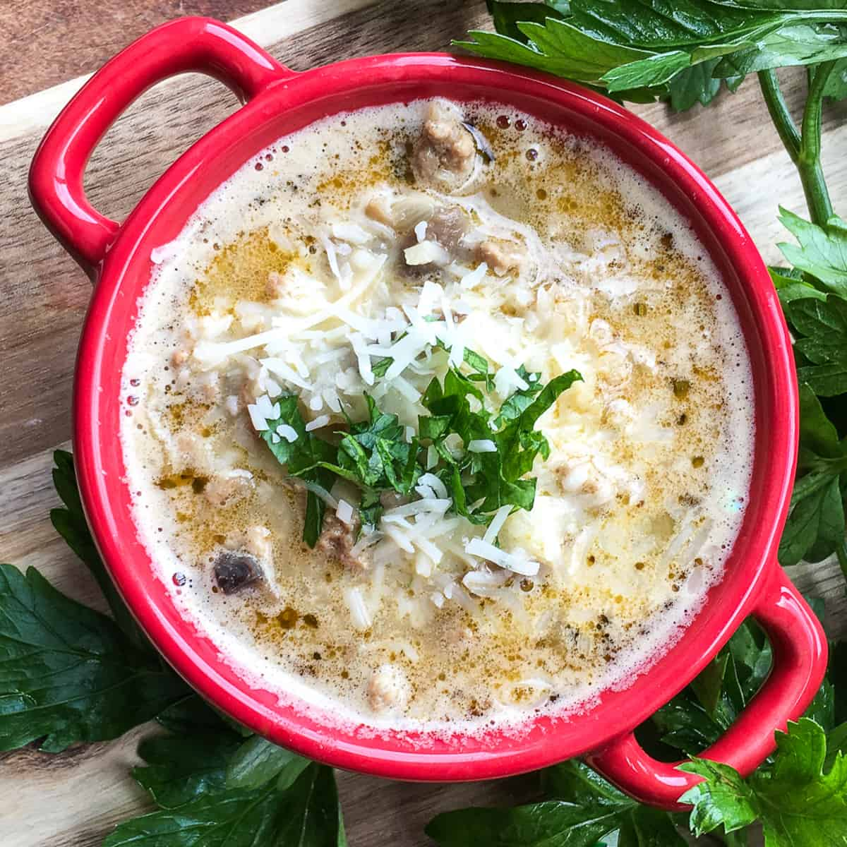 Keto Turkey Mushroom Soup