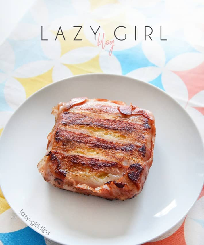 Low Carb Keto Bacon Wrapped Grilled Cheese