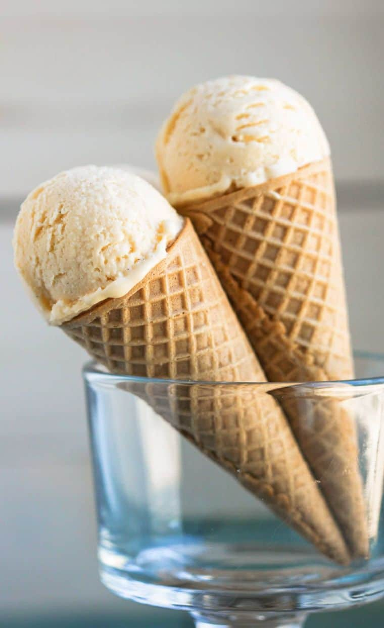 Healthy Vanilla Protein Ice Cream