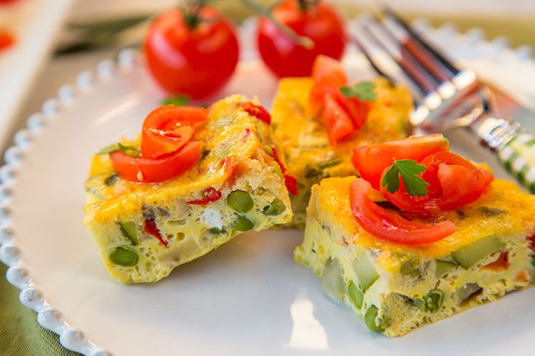 Slow Cooker Vegetable Omelette
