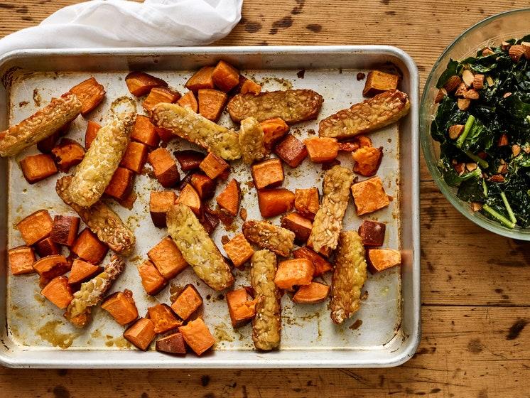 Maple Tempeh & Sweet Potatoes
