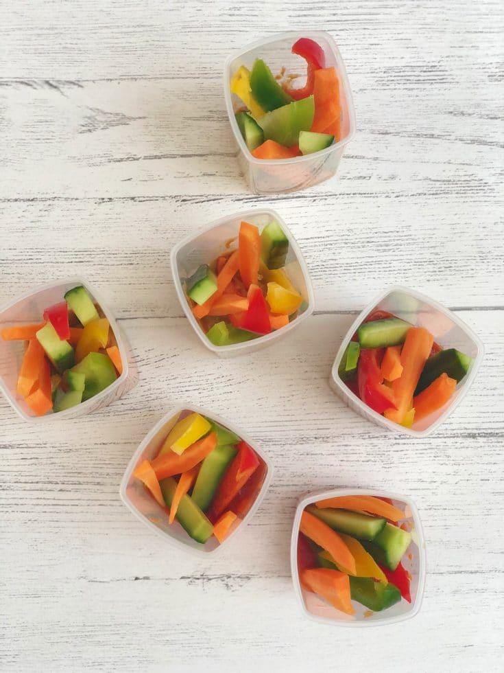 Veggie Sticks & Dip Pots