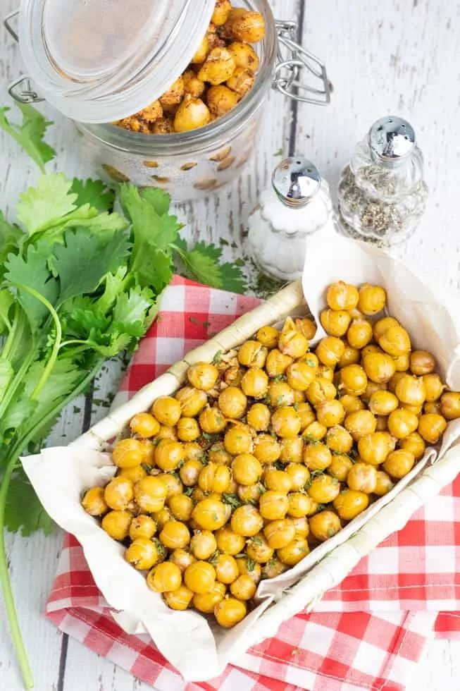 Salt & Vinegar Roasted Chickpeas