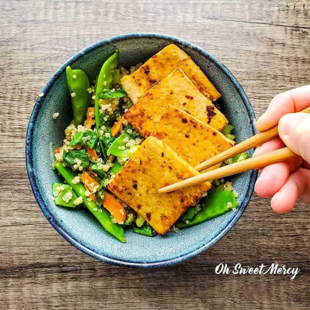 Lime Tofu and Quinoa