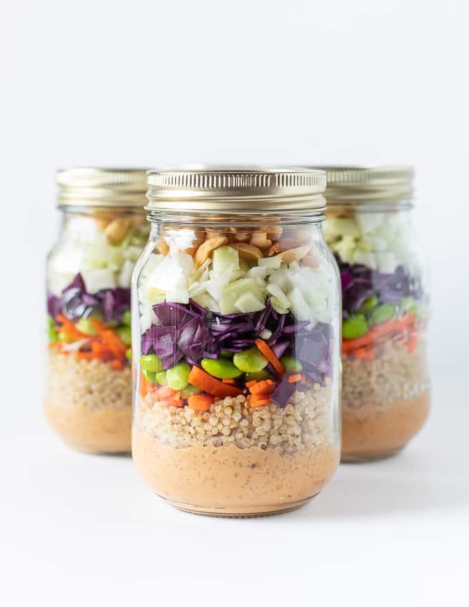 Peanut Crunch Salad In A Jar