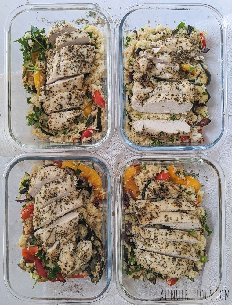 Herb Chicken Breasts With Couscous