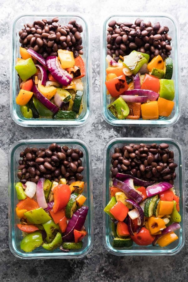 Grilled Veggie & Black Bean Bowls