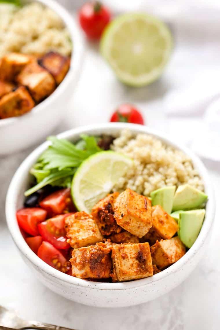 Chipotle Tofu Quinoa Bowls