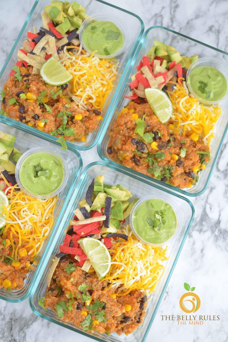 Instant Pot Meal Prep Quinoa Burrito Bowl