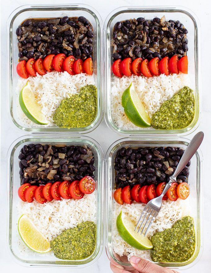 Vegan Meal Prep With Black Beans