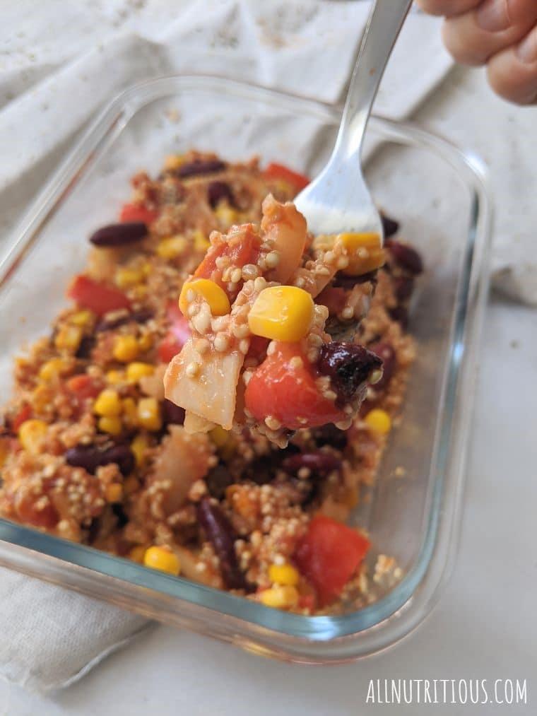 Mexican Red Bean Quinoa Casserole