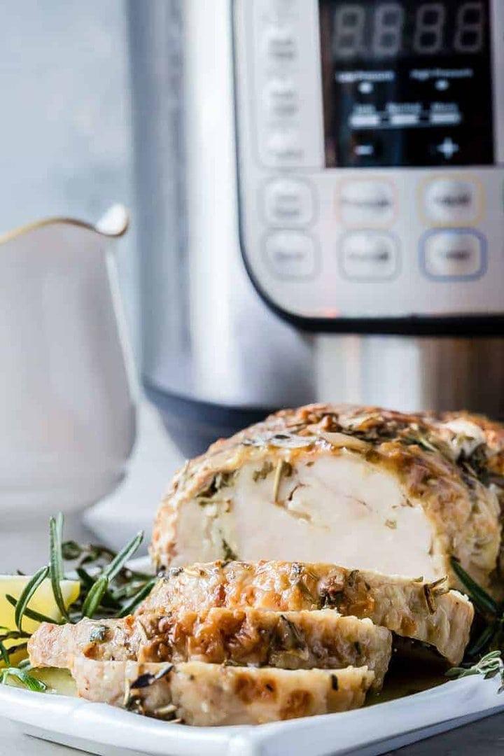Turkey Breast With Garlic Butter Gravy