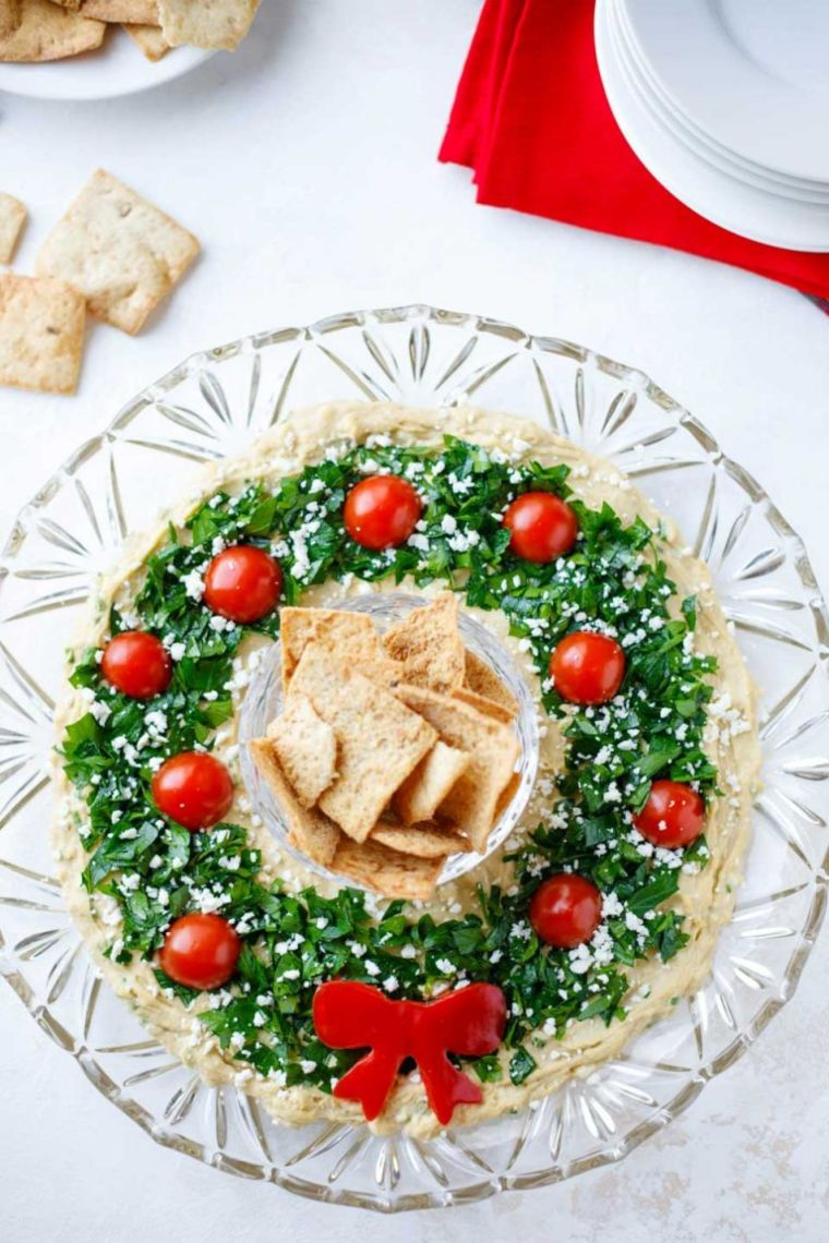 Hummus Wreath