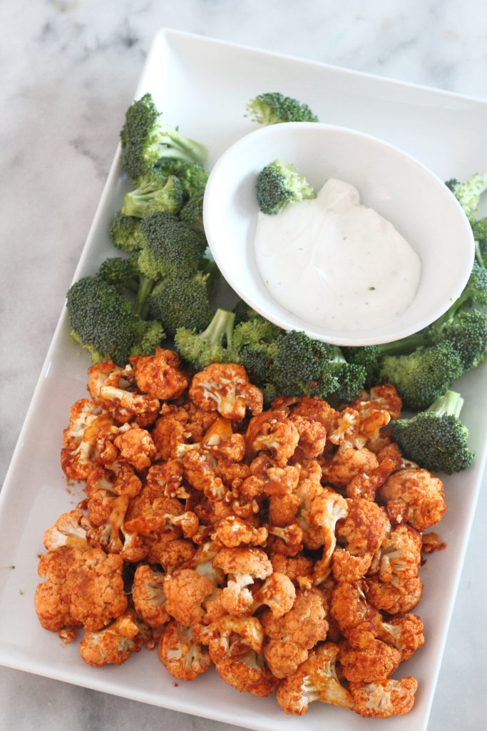 Air-Fried Buffalo Cauliflower