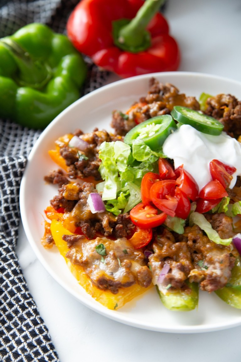 Cheesy Bell Pepper Keto Nachos