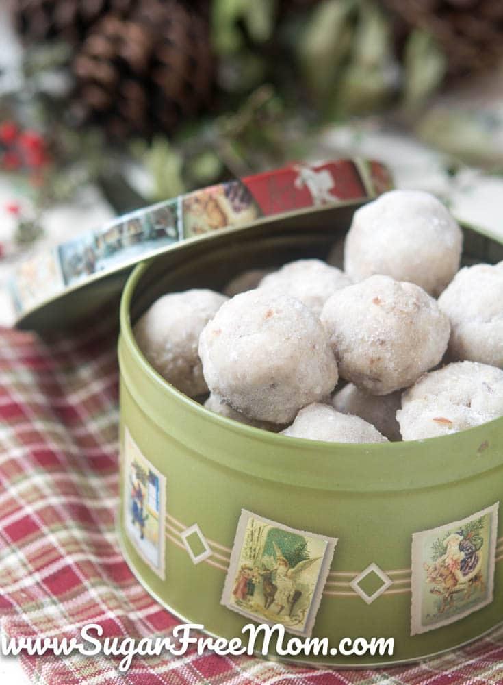 Paleo Pecan Snowball Cookies