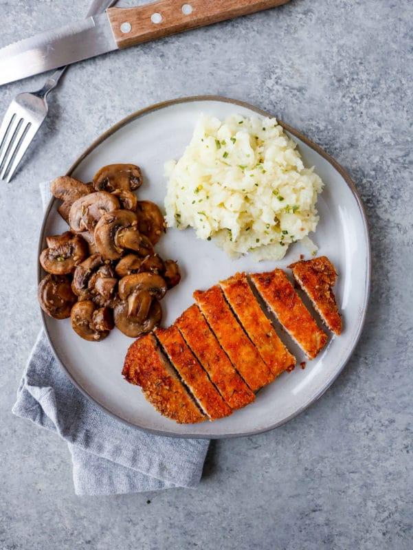 Pork Rind Coated Pork Chops