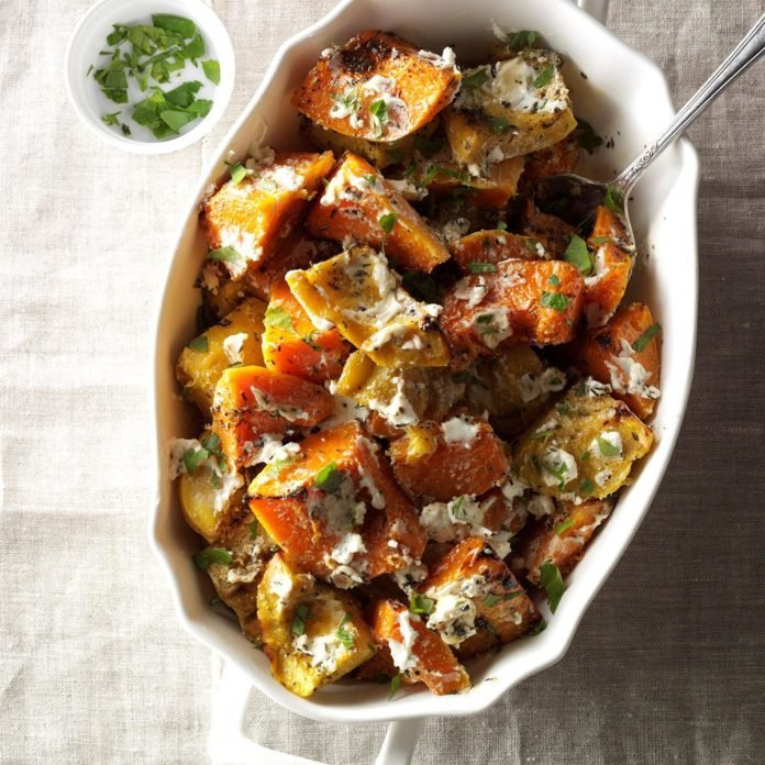 Roasted Herbed Squash