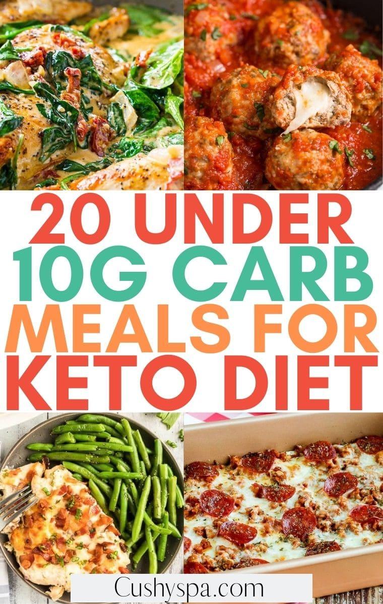 10g carb keto meals
