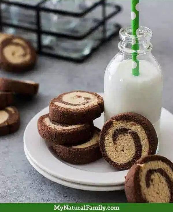 Chocolate Peppermint Swirl Cookies