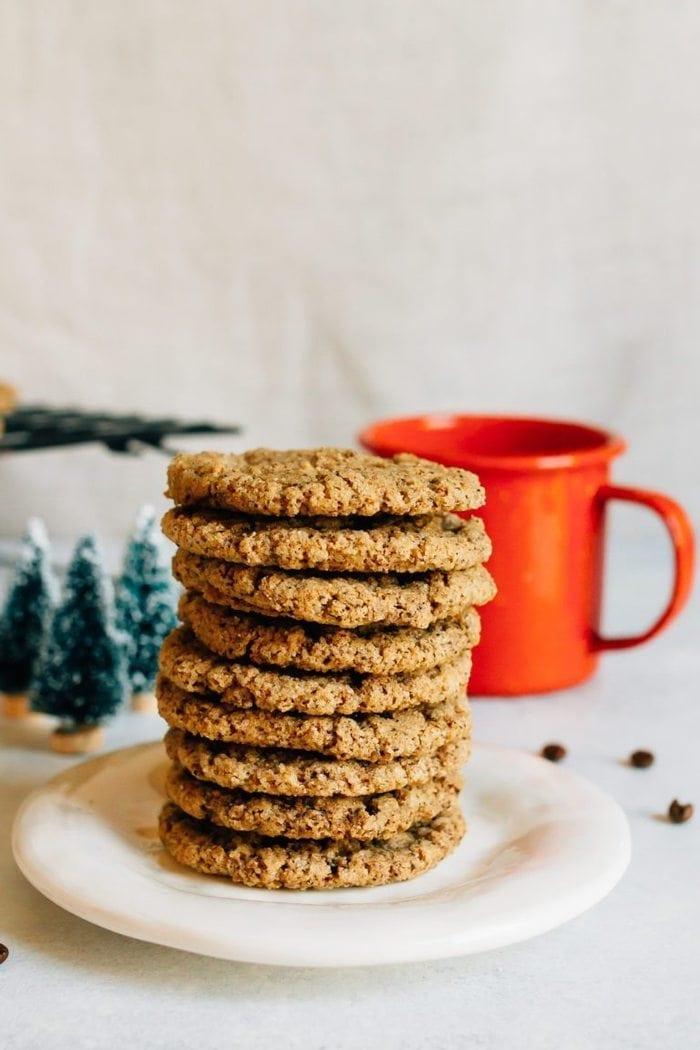 Almond Butter Espresso Cookies