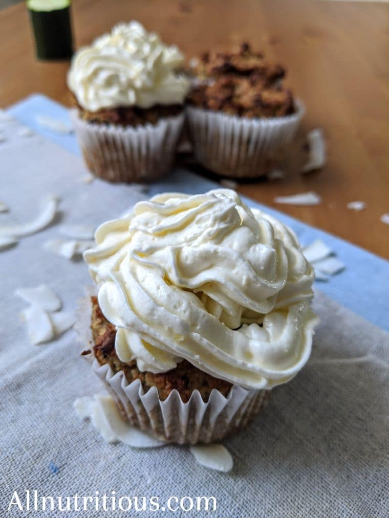 Spiced Zucchini Cupcakes With Vanilla Frosting