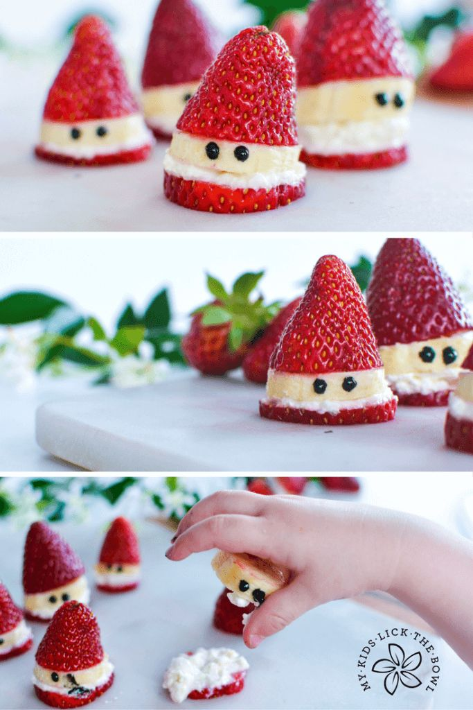 Healthy Strawberry Santas