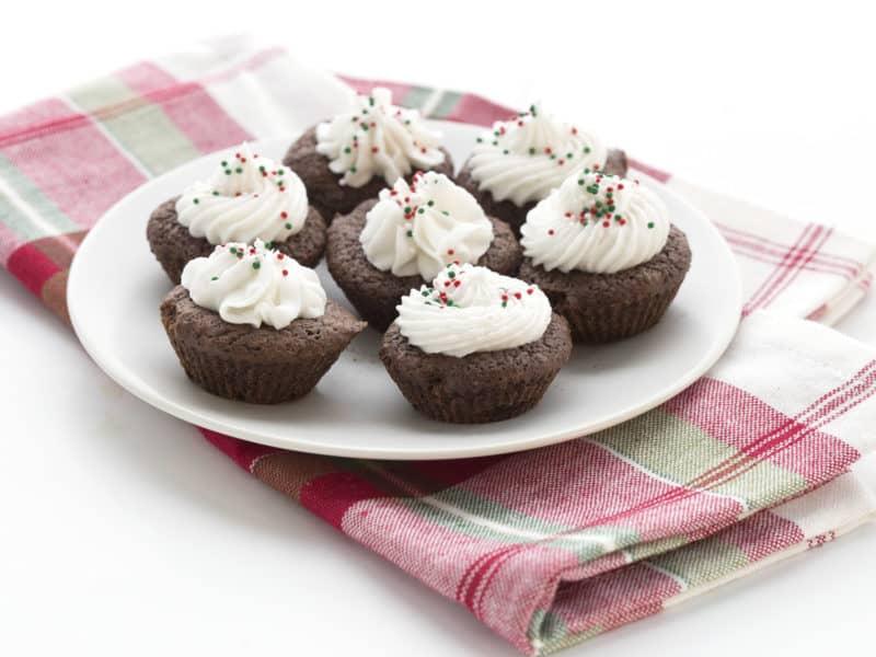 Peppermint Brownie Bites