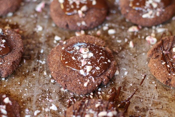 Paleo Chocolate Peppermint Cookies