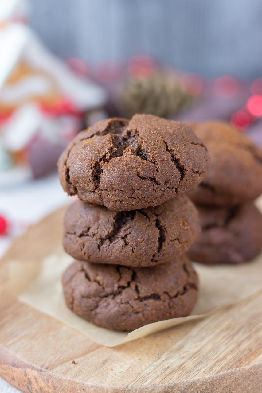 Chocolate Gingerbread Cookies