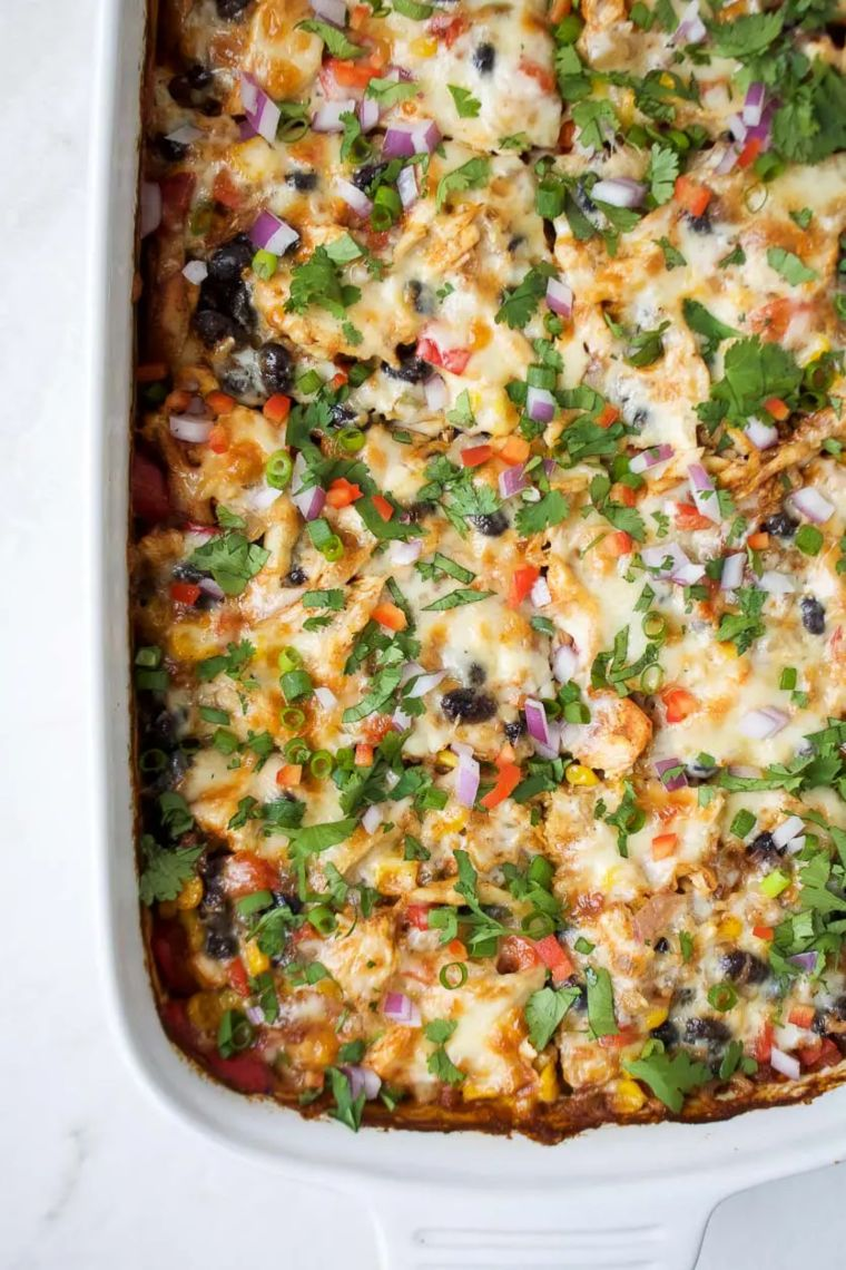 Chicken Burrito Casserole