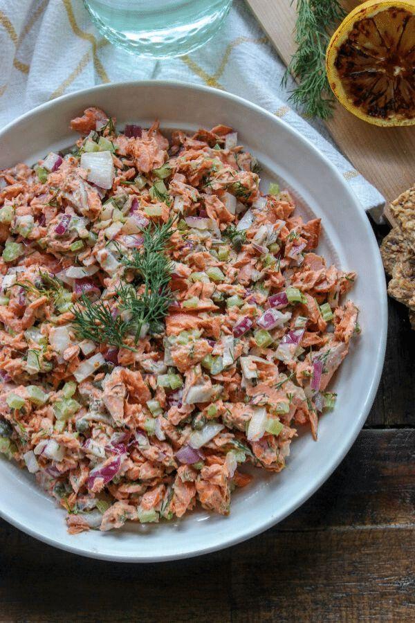 Cedar Plank Salmon Salad