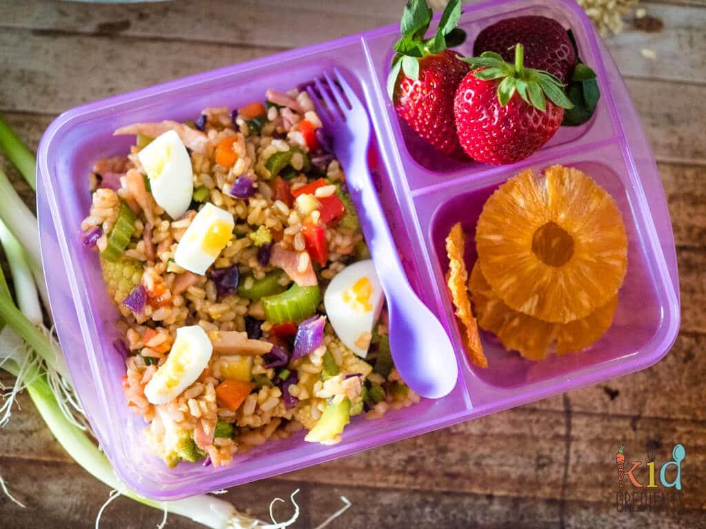 Lunchbox Fried Rice Salad