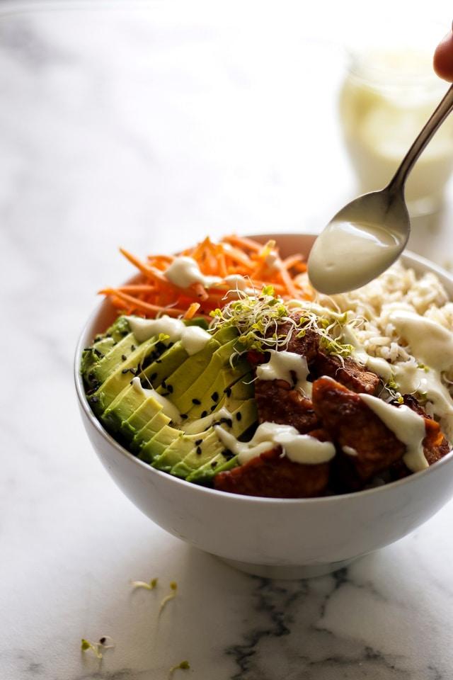 Vegan Rice Bowl With Smoky Tempeh