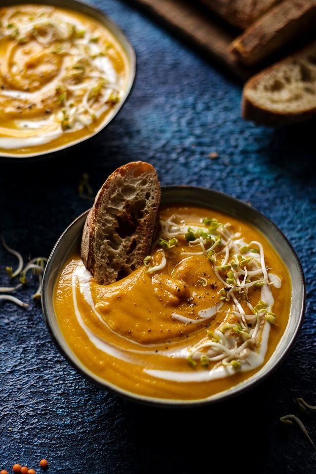 Vegan Sweet Potato Lentil Soup
