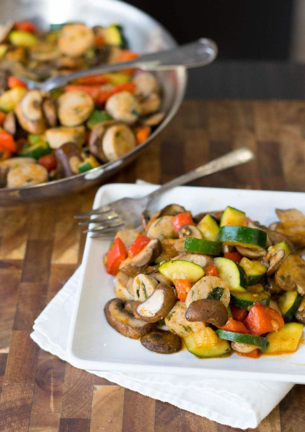 Sausage & Vegetable Saute
