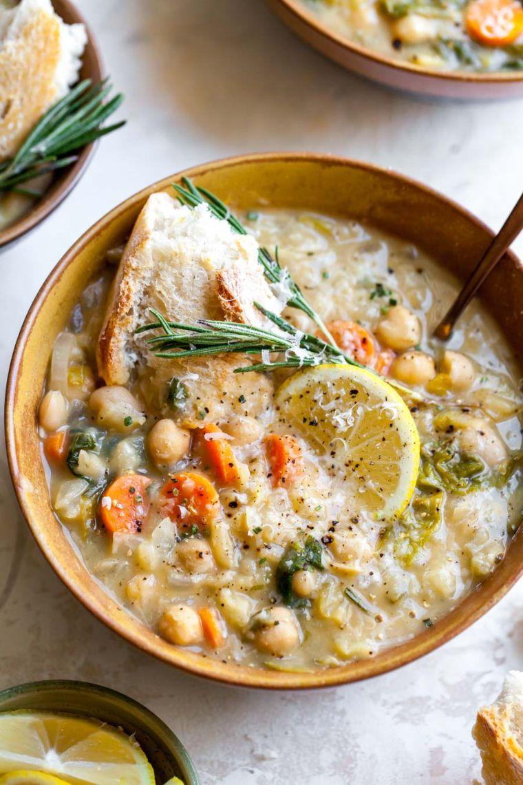 White Bean & Lemon Soup