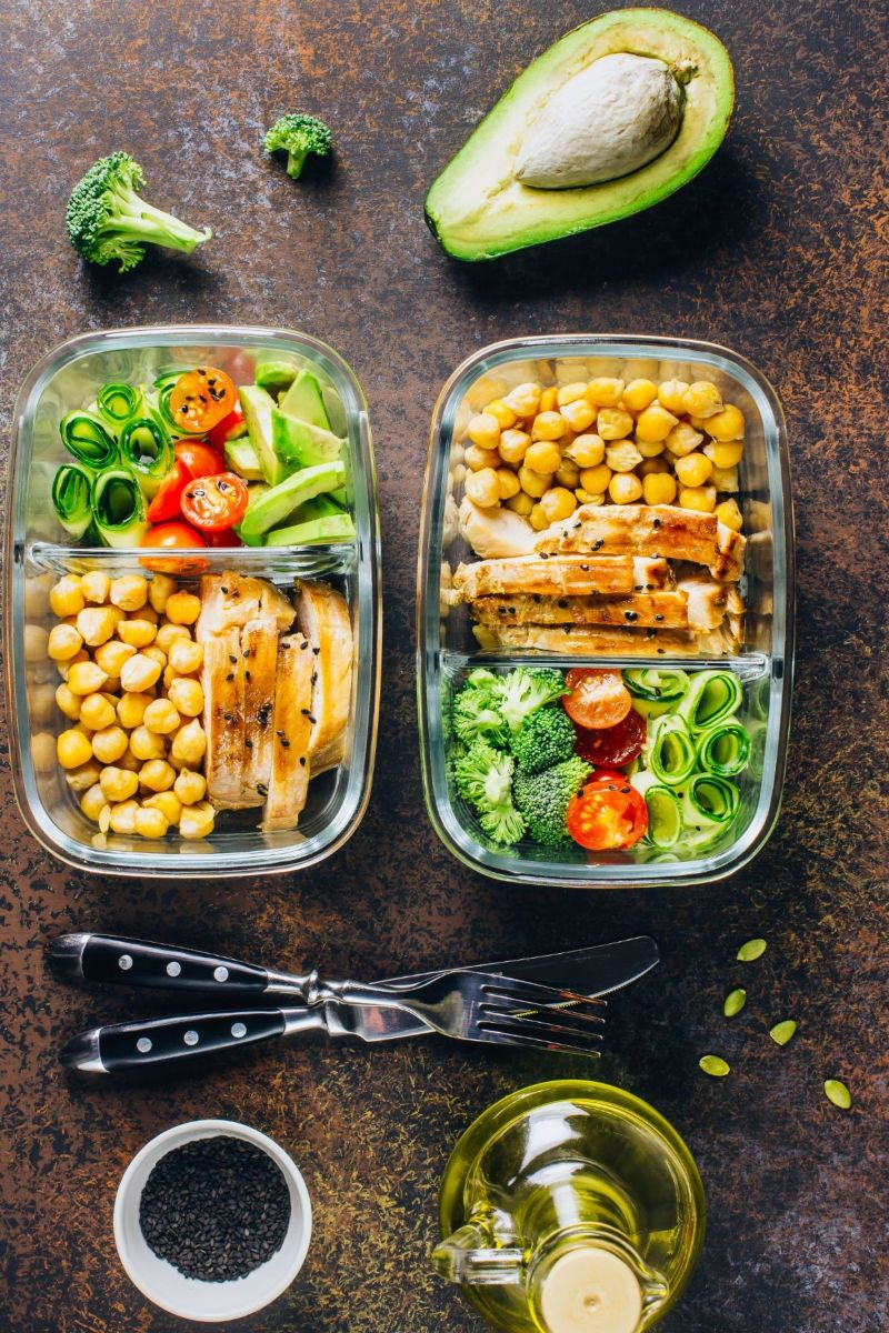 two meal prep containers