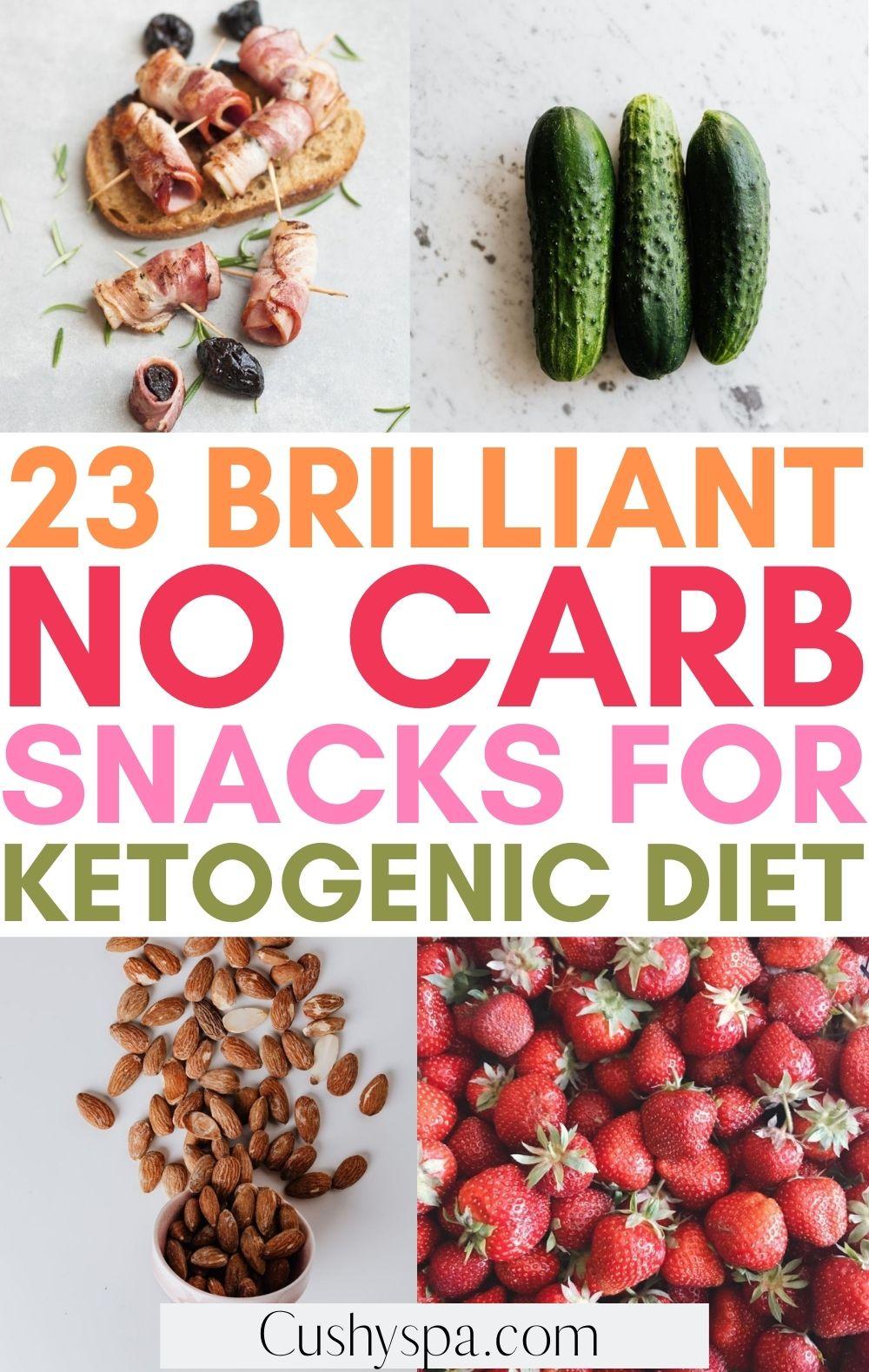 no carb snacks
