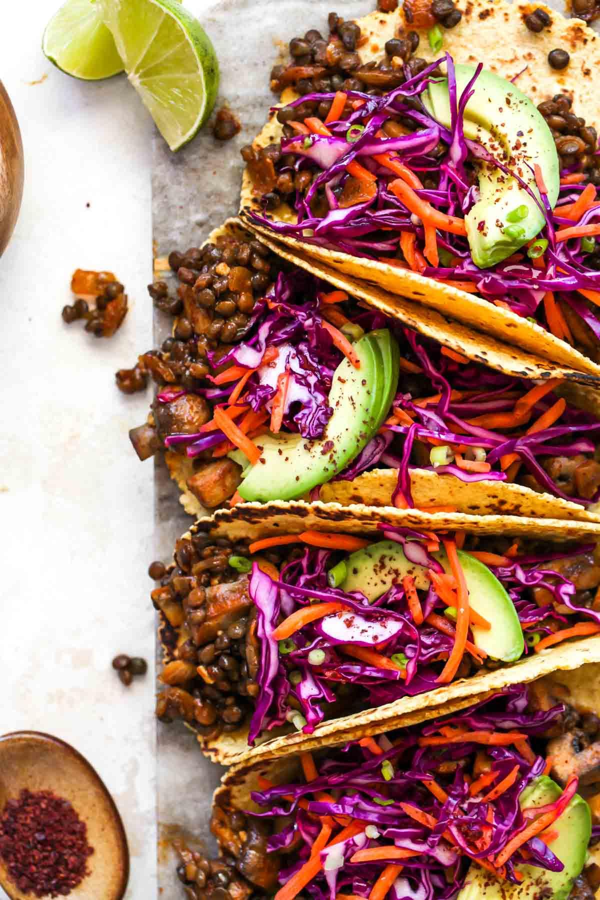Lentil & Mushroom Tacos