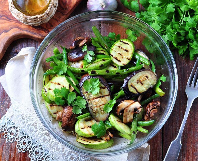 bowl of eggplant salad
