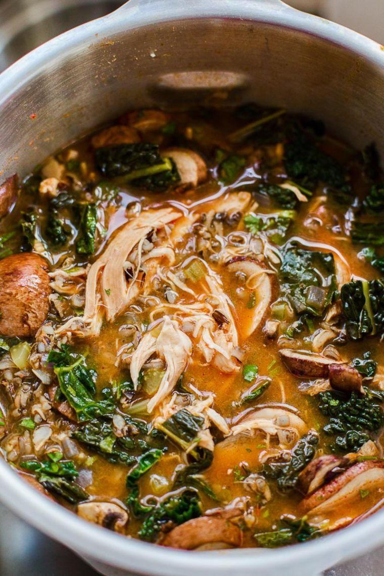 Slow Cooker Thai Chicken & Wild Rice Soup