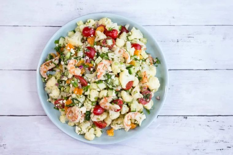 Shrimp & Cauliflower Salad